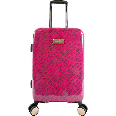 """Juicy Couture Juicy Cassandra 21"""" Spinner - Fuchsia Hardside Carry-On NEW"""