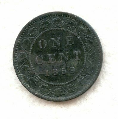 Canada  ~ 1859/8 Wide 9 ~ Large Cent ~ F
