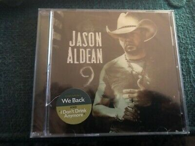 Jason Aldean cd 9 Featuring We Back & I Don't Drink Anymore sealed cracked case
