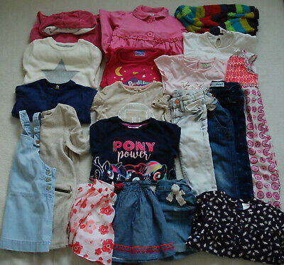 BUNDLE 20 Items Girls Clothes Warm Dresses Skirts Trousers Jumpers Tops 2-3 YRS
