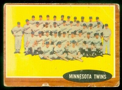 1962 Topps #584 Twins Team Poor