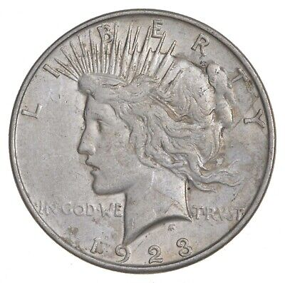 Early - 1923-D - Peace Silver Dollar - 90% US Coin *046
