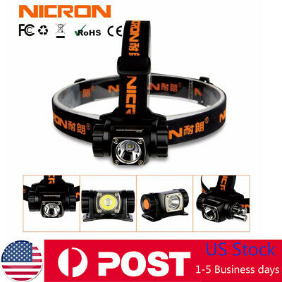 Nicron Super Bright LED Headlamp Waterproof Flashlight Head Light Torch Lamp AAA