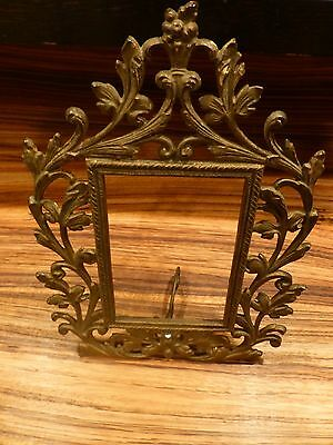 Superb Antique cast iron frame-gilted ca. late 19th C. rare [Y8-W7-A9]