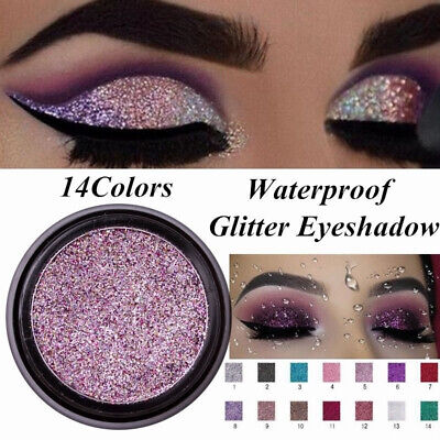 Shimmer Glitter Eye Shadow Powder Palette Matte Eyeshadow Cosmetic Makeup LULAA