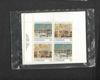pk46950:Stamps-Canada PO Pak #734a Tom Thomson 12 ct Plate Block Set - MNH
