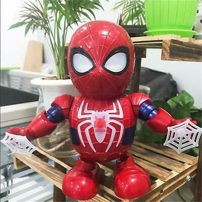 Toys For Boys LED Robot Dance Spider Man 2 3 4 5 6 7 8 9 Year Age Old gift Xmas