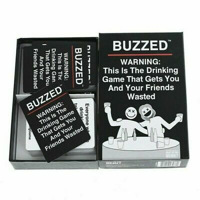 180PCS Buzzed Wasted Board Game Cards For Funny Family Adults Party