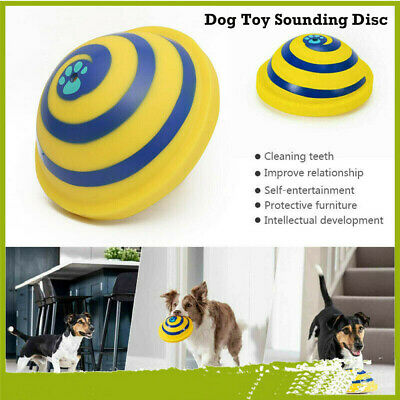 For Woof Glider Squeaky Dog Toy Sounding Disc Portable Fun Play All Dog Training