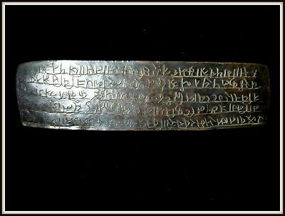 An Antique Bronze Plaque Tablet with Unknown Script Writing