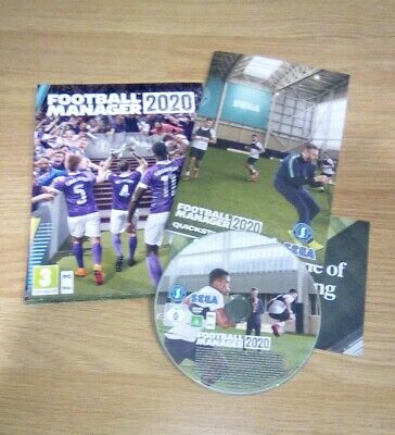 Football Manager 2020 PC case box manual physical disc UK version FM20 collector
