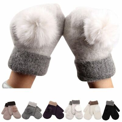 Cotton Soft Gifts Women Gloves Winter Warm Full Finger Wool Knitted Mittens