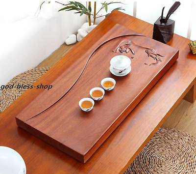 80cm*39 rosewood tea tray handmade carved tea table solid wood serving trays big
