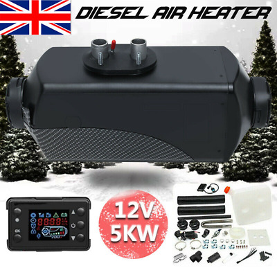 12V 5000W LCD Monitor Air Heater Diesel Fuel 5KW PLANAR for Trucks Bus Boats Car