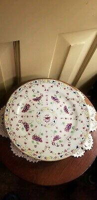 """Antique Chinese Export Floral Porcelain Plate 8 7/8"""""""
