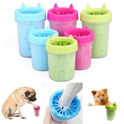 Portable Pet Paw Mud Cleaner Color Plunger Washer Dog Cat Paw Candy Clean Cup UK
