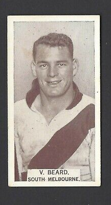 Wills (Aus) - Footballers, 1933 - #72 V Beard, South Melbourne