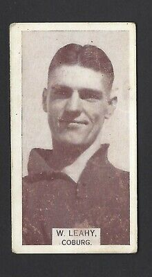 Wills (Aus) - Footballers, 1933 - #119 W Leahy, Coburg