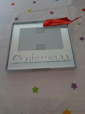 with 3D letters LP24175 Stunning Mirror Glass Confirmation Photo Frame