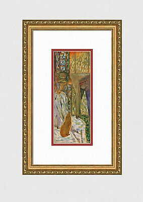 "1947 Pierre BONNARD Antique NUDE Print ""The Girl & Her Puppy"" SIGNED Framed COA"