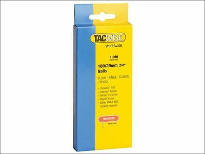 180 18 Gauge 20mm Nails Pack 1000 TAC0360