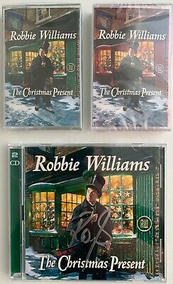 Robbie Williams The Christmas Present Signed Double Cd + Double Cassette Bundle