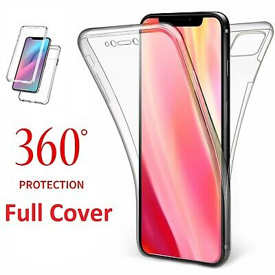 360 Full Cover CLEAR Case For iPhone 11 Pro XS Max XR X 8 7 Plus Shockproof TPU