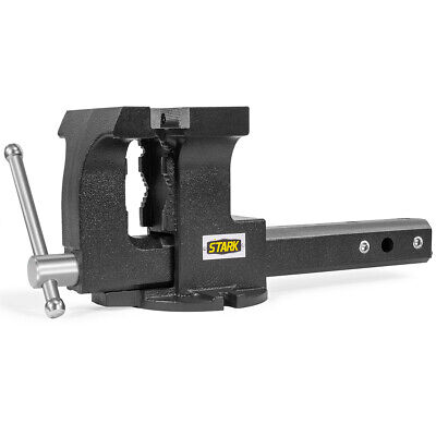"""2-in-1 Tow Hitch Truck Vise 6"""" Bench Vise Fits 2"""" Receiver w/ Built-in Mount"""