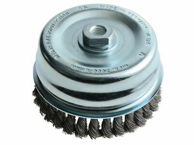 Knot Cup Brush 125mm M14 x 0.50 Steel Wire* LES487217