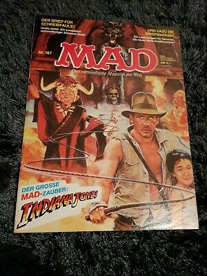 """MAD Nr. 187 mit DON MARTIN+""""Harrison Ford+INDIANA JONES"""" Parodie Cover+Story, Z1"""