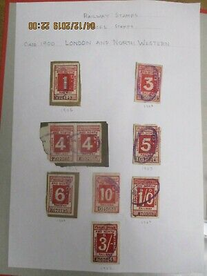 EDVII LONDON & NORTH WESTERN RAILWAY STAMPS x 9 to 3/- USED