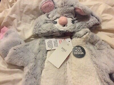 marks &spencers girls oneci  age 1-2 yrs grey hooded BNWTS