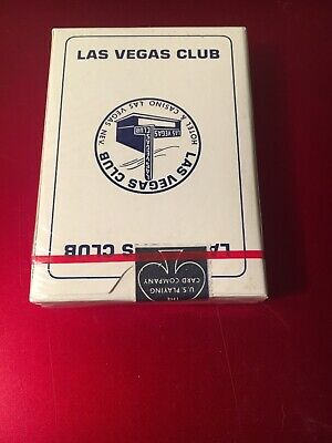 Vintage  Unopened Las Vegas Club Hotel & Casino Las Vegas, Nevada Playing Cards