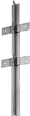 T-Profile Fence Pole, hot-dip galvanised 40 x 40/1200 mm