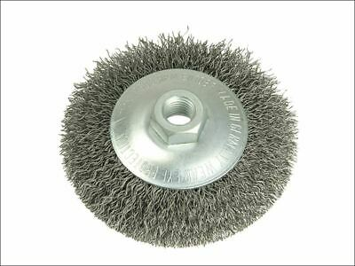 Conical Bevel Brush 100mm M14 Bore 0.35 Steel Wire LES422177