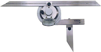 Metrica 36030 Protractor with lens stainless steel chromed