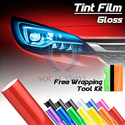 Headlight Protection Film Smoke Tint Tail light Fog Side Marker Vinyl Wrap