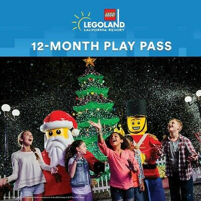 LEGOLAND California Resort 12-Month Play Pass, Plus Two 1-Day Resort Hopper Budd