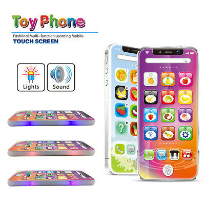 Baby Kids Simulated Smart Phone Early Educational Music Toy Touch Screen Gift