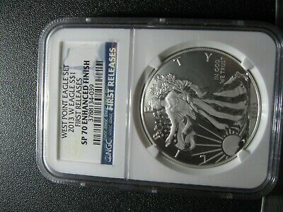 2013 W Silver Eagle First Release NGC SP70 Enhanced Finish West Point Set