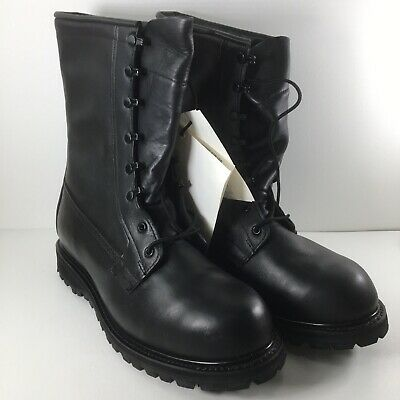 US Army Black Combat Boots ICW Cold Weather Vibram Soles Mens 11 Wide