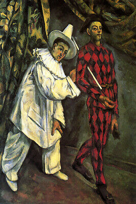 Paul as Harlequin 1924 Picasso Poster Canvas Picture Art Print Premium A0 A4