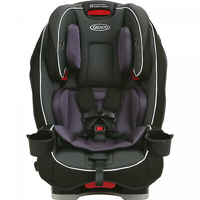 Anabele Purple All-in-One Convertible Car Seat Slim-Fit Rear To Forward-Facing