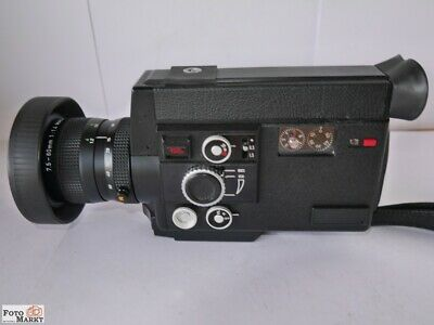 Canon Super-8 Film Camera Auto Zoom 814 Electronic Lens 1,4/7,5 -60 Macro