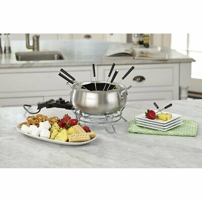 Stainless Steel Electric Fondue Pot 3-Quart Non Stick BPA Free Dishwasher Safe