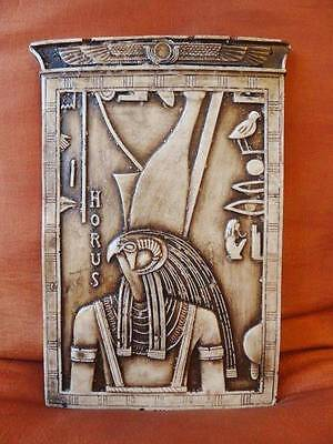 ** Amazing Antique Egyptian Wall Plaque Ancient King Falcon HORUS **