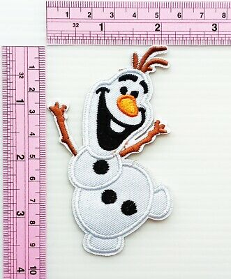 Frozen Olaf Patch Cartoon Kids Movie Iron on Patch Embroidered Iron On Applique