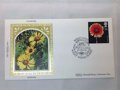 "Benham Silk FDC ""Flowers"" Set Of 4 . 1987"