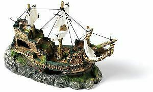 Classic Polyresin Galleon With Sails 33cm - 53005