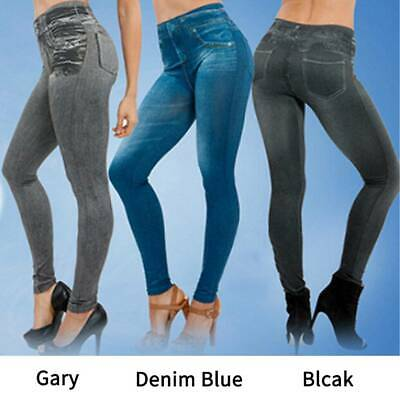Women's Skinny Denim Stretch Jeans Slim Skinny High Waist Pencil Pants Trousers
